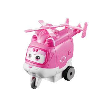 Figura de acção Transform-a-Bot Super Wings Vroom ?n Zoom Dizzy Rosa e Branco