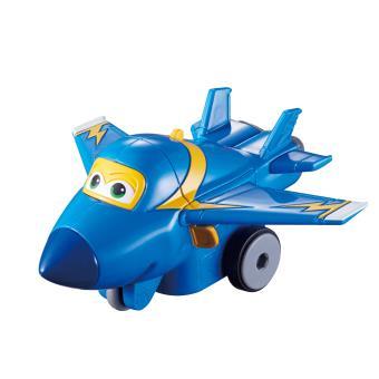 Figura de acção Transform-a-Bot Super Wings Vroom Zoom Jerome Azul e Amarelo