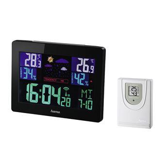 Estações meteorológicas digitais Hama Color EWS-1400 Preto Bateria
