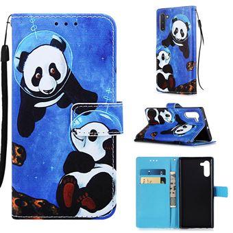 Capa Magunivers PU + TPU Impressão Padrão com Apoio Pandas para Samsung Galaxy Note 10/Note 10 5G