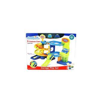 Pack de 3 Carros e Garagem Toys Outlet Playset Garage 405-2810