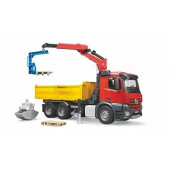 BRUDER MB Arocs Construction truck with accessories