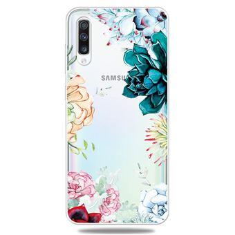 Capa Magunivers para Samsung Galaxy A50 e TPU Impressão Padrão Extremamente Transparente Várias Flores