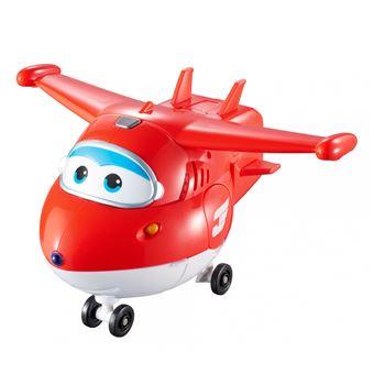 Figura de acção Transform-a-Bot Super Wings Transform ?n Talk Jett Vermelho e Branco