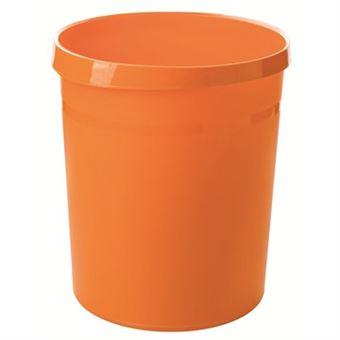 Caixote do Lixo HAN GRIP 18 l Redondo Polipropileno Laranja