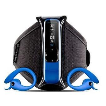 Leitor MP3 Energy Active 2 Neon Blue 4GB (Rádio FM, Écouteurs sport, Brassard)
