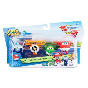 Figuras de acção Transform-a-Bot Super Wings Transform-a-Bots 4pk Multi cor