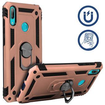 Capa Protetora Avizar para Huawei Y7 2019 Com Suporte em Anel Magnético Rosa