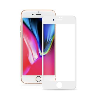Película Ecrã Cobertura Total Vidro Temperado dmobile para iPhone 8 Full Cover 3D Branco