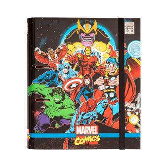 Pasta 2 Aneis Troquelada Premium Marvel Comics Avengers