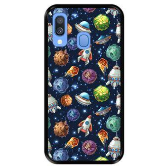 Capa Tpu Hapdey para Samsung Galaxy A40 2019 | Design Invasão Espacial - Preto