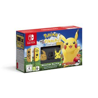 """Nintendo Switch - Pokémon: Let's Go Pikachu! consola de jogos portáteis Preto, Amarelo 15,8 cm (6.2"""") Ecrã táctil 32 GB Wi-Fi"""