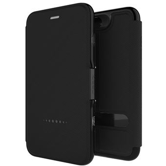 Capa Tipo Carteira GEAR4 D3O Oxford Preto para iPhone 7 Plus