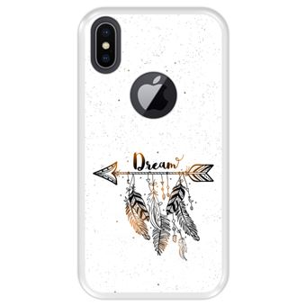 Capa Tpu Hapdey para Iphone X - Xs | Design Estilo Boho | Apanhador de Sonhos com Penas - Transparente