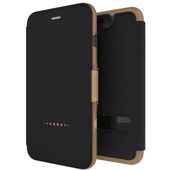 Capa Tipo Carteira GEAR4 D3O Oxford Dourado para iPhone 7 Plus