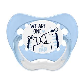 Chupeta nip 38404-51  Chupeta clássica para bebé Ortodontia Silicone Azul, Branco