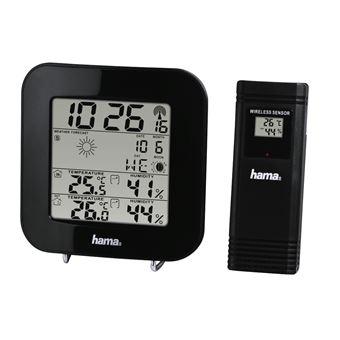 Estações meteorológicas digitais Hama EWS-200 Preto Bateria