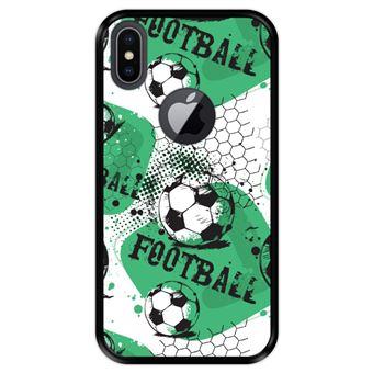 Capa Tpu Hapdey para Iphone X - Xs | Design Padrão de Futebol 1 - Preto