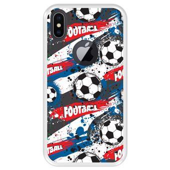 Capa Tpu Hapdey para Iphone X - Xs | Design Padrão de Esportes com Bolas de Futebol - Transparente