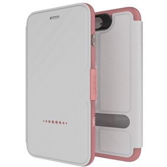 Capa Tipo Carteira GEAR4 D3O Oxford Rosa para iPhone 7 Plus
