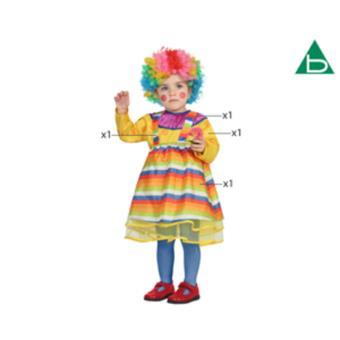Disfarce Atosa Clown 12-24 Meses