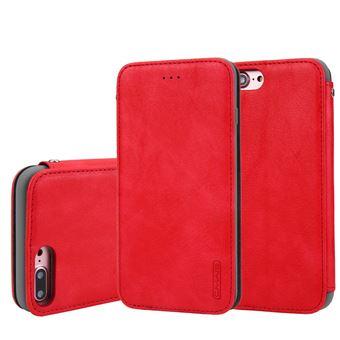Capa TPU + PU vermelho para Apple iPhone 8 Plus