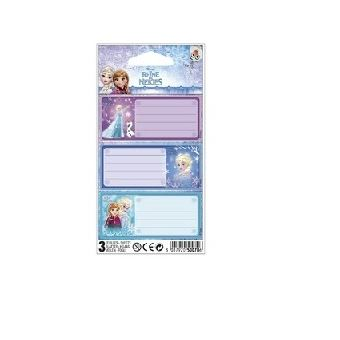 Disney 3037920500706 etiqueta autocolante Azul, Rosa, Roxo Rectângulo Permanente 3 peça(s)
