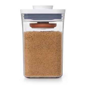 Caixa de armazenamento de comida OXO 11234000  Retangular 0,9 l Transparente, Branco