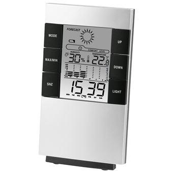Estações meteorológicas digitais Hama TH-200 Prateado Bateria