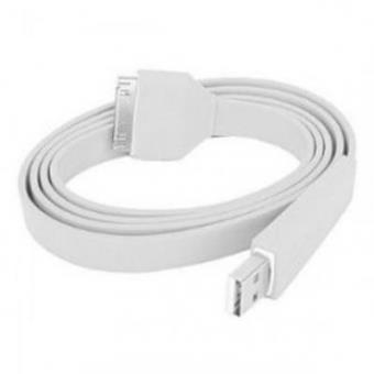 Cabo USB Flat Iphone Ipod Ipad Branco