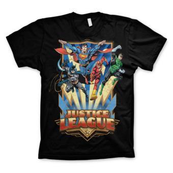 T-Shirt Hybris DC Comics Justice League - Team Up! Preto Tamanho XL