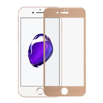 Película Ecrã Cobertura Total Vidro Temperado dmobile para iPhone 7 Plus Full Cover 3D Dourado