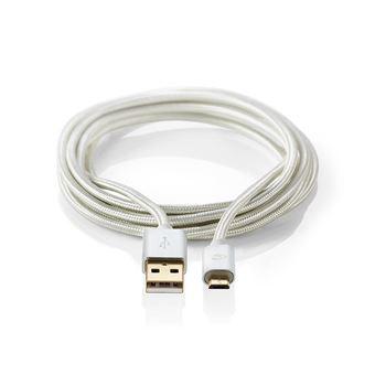 Nedis CCTB60500AL10 cabo USB 1 m 2.0 USB A Micro-USB B Alumínio