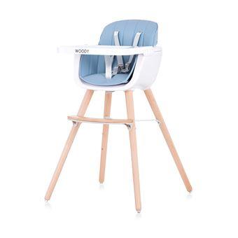 Cadeira de Bebé Chipolino WOODY SKY | 2 em 1 | Madeira - Azul