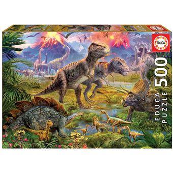 Puzzle Encuentro de dinosaurios 500 Peças
