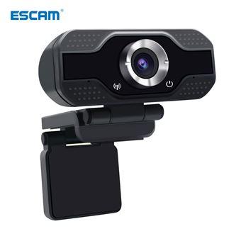 Webcam ESCAM HD | 1080p - Preto