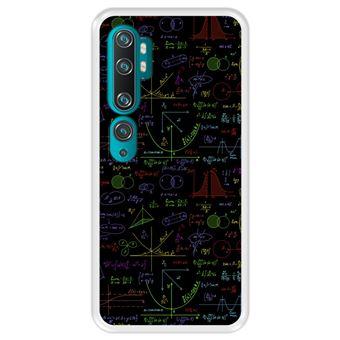 Capa Tpu Hapdey para Xiaomi Mi Note 10 - Note 10 Pro - Cc9 Pro | Design Cálculos Matemáticos com Gráficos de Álgebra | Soluções de Tarefas 2 - Transparente