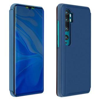 Capa Proteção Xiaomi Mi Note 10 /10 Pro | Translúcida | Efeito Espelho | Suporte - Azul