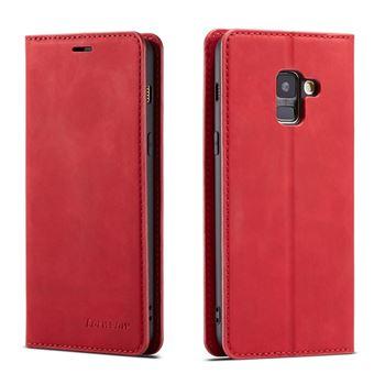 Capa Magunivers PU vermelho para Samsung Galaxy A8 (2018)