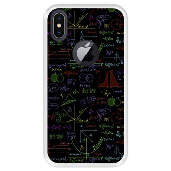 Capa Tpu Hapdey para Iphone X - Xs | Design Cálculos Matemáticos com Gráficos de Álgebra | Soluções de Tarefas 2 - Transparente
