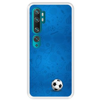 Capa Tpu Hapdey para Xiaomi Mi Note 10 - Note 10 Pro - Cc9 Pro | Design Padrão de Esportes com Bola de Futebol - Transparente