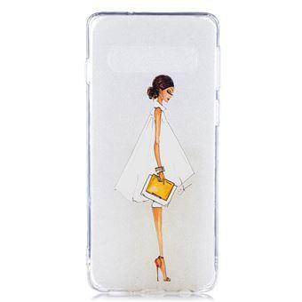 Capa TPU Magunivers impressão de padrões rapariga com sapatos de salto alto para Samsung Galaxy S10
