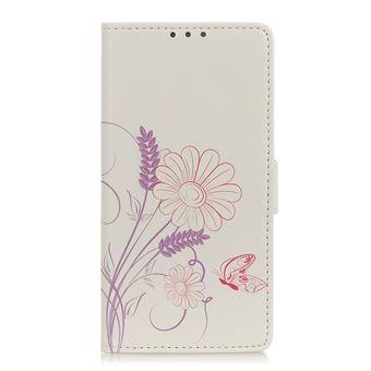 Capa Magunivers para Samsung Galaxy A31| PU |impressão padrão Apoio borboleta e flor