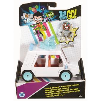 Carro e Figura de acção Mattel DC Comics Teen Titans DXR06 Plástico Branco