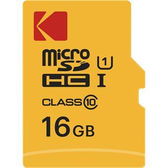 cartão de memória Emtec microSDHC 16GB UHS-I Class 10  Preto e Vermelho e Amarelo