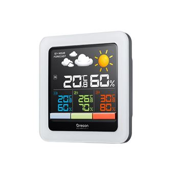 Estaçáo Meteorológica Digital Oregon Scientific RAR502SX LCD Bateria - Branco
