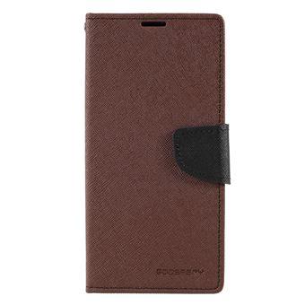 Capa PU marrom para Samsung Galaxy A50