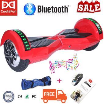 Hoverboard 8 CoolFun Bluetooth com Controlo Remoto e Bolsa Vermelho