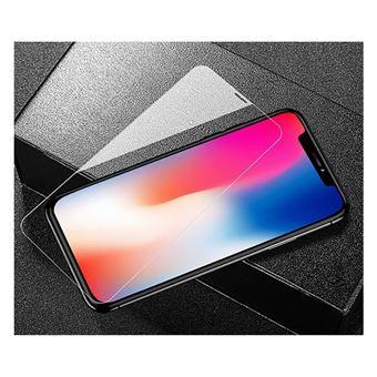 Película Ecrã de Vidro Temperado Li-RK Full Glue e Full Cover Transparente para iPhone X / XS