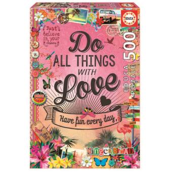 Puzzle Do All Things With Love 500 Peças
